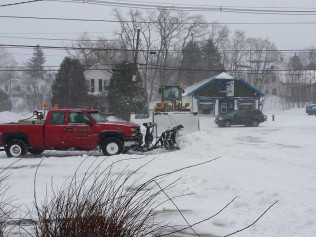 snow plowing and snow removal services in Ellsworth, ME